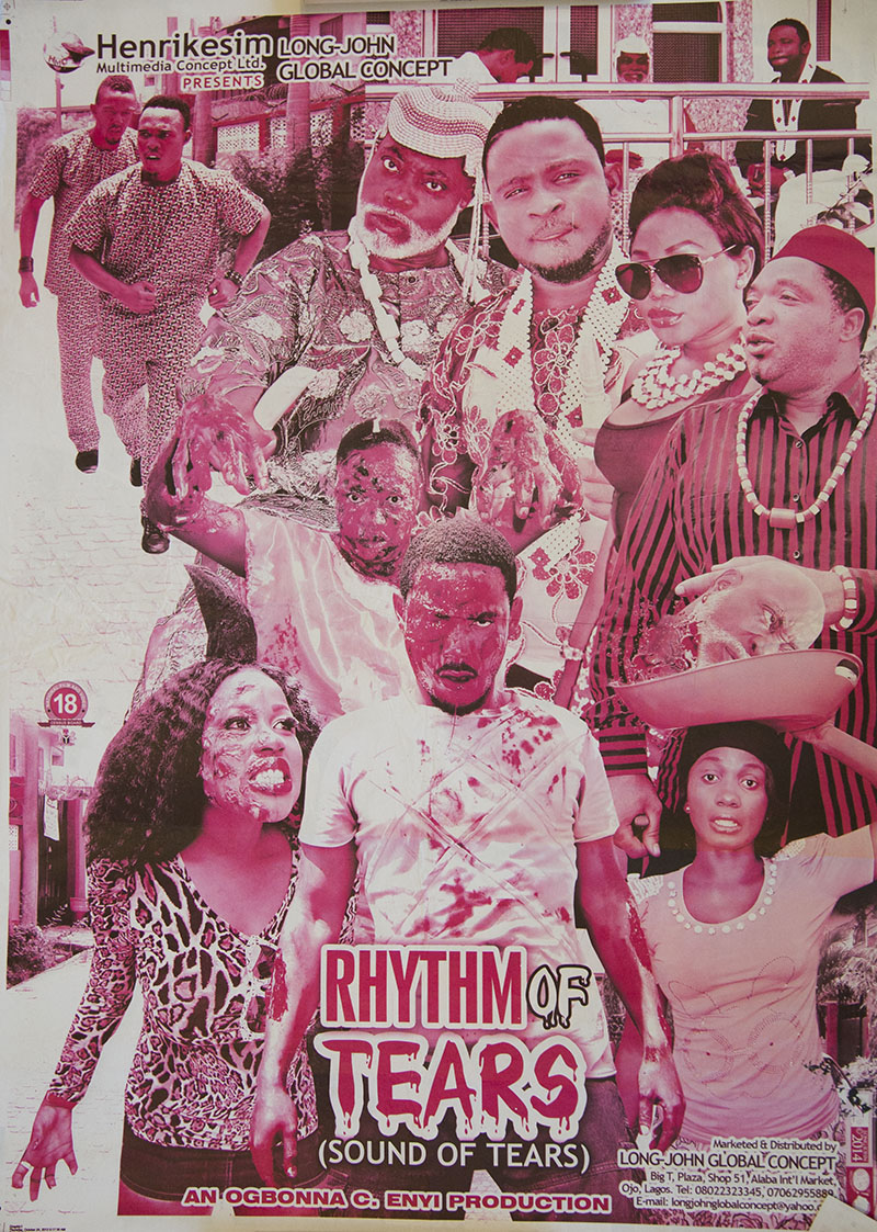 Nollywood, poster, bichromic, Rhythm of tears
