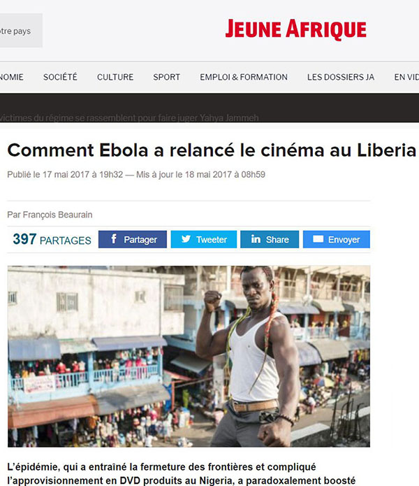 ebola, liberia, monrovia, lollywood, cinema, beaurain