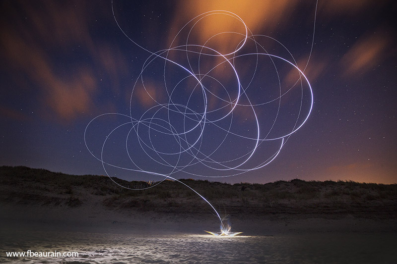 kite, sky painting, light painting, soulac sur mer